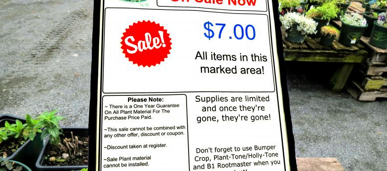 Garden Barn Perennials - $7 Sale Sign